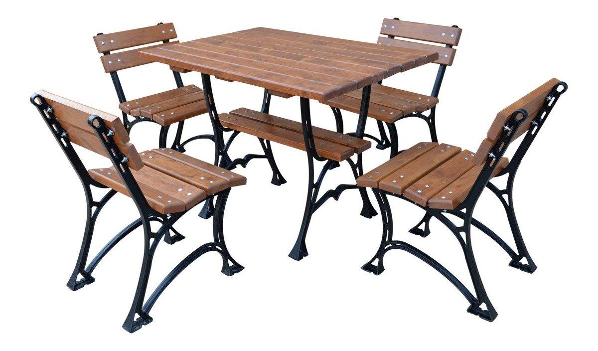 Gartenmobel Set Restor Tisch Und 4 Stuhle Massivholz Erle