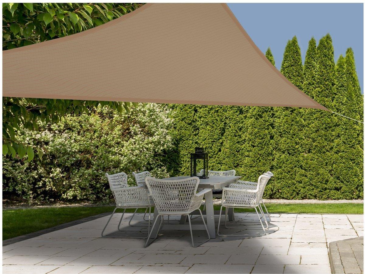 ProGarden X20 20,20x20,20x20,20m Sand Sonnenschutz Segel eignet sich gut im  Garten auf der Terrasse und auf dem Balkon